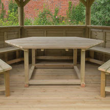 Table for 4.0m Hexagonal Gazebo