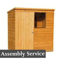 Lean To Styled Storage Shed 6x4 with Assembly