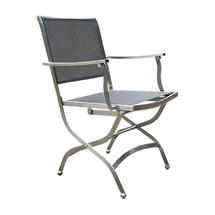 Dallas Folding Armchair - Charcoal