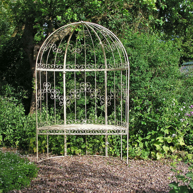 Metal Garden Arbour Bench Seat Rectory Arbour Bench The Worm That Turned