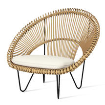 Roy Cocoon Natural Chair with Seat Cushion