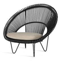 Roy Cocoon Black Chair with Seat Cushion