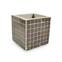 Small Square Mosaic Pot - Black