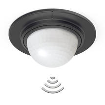 Motion Sensor Flush Ceiling Fitting IS360-1 DE Black VPE24