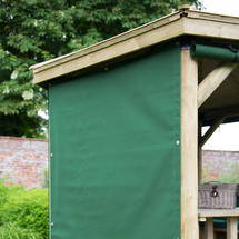 4m Hexagonal Garden Gazebo Curtains - Green (set of 6)