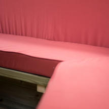 4.7m Hexagonal Garden Gazebo Cushions - Seats & Backs - Terracotta