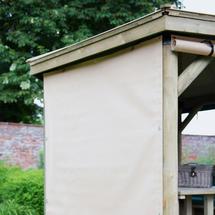 4.7m Hexagonal Garden Gazebo Curtains - Cream (set of 6)