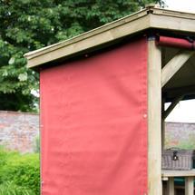 4.7m Hexagonal Garden Gazebo Curtains - Terracotta (set of 6)