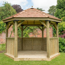 Hexagonal 3.6m Gazebo with New England Cedar Roof