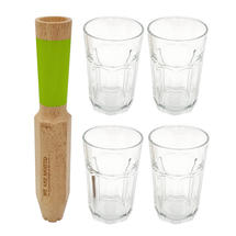 Mojito Tool with 4 Glasses Gift Set