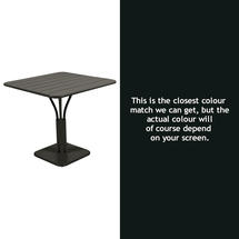 Luxembourg Square Table - Liquorice