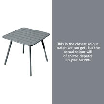 Luxembourg Square Table with 4 legs - Storm Grey