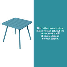 Luxembourg Square Table with 4 legs - Turquoise