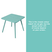 Luxembourg Square Table with 4 legs - Lagoon Blue