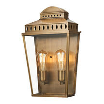 Mansion House Large Wall Lantern - Aged Brass