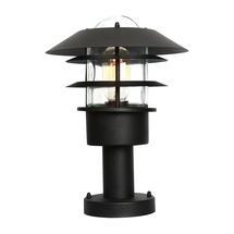 Helsingor Pedestal Lantern - Black