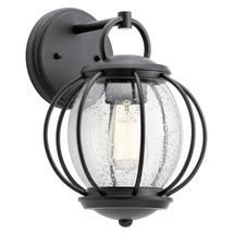 Vandalia 1lt Wall Lantern - Textured Black