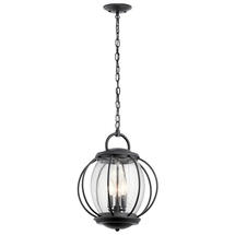 Vandalia 3lt Chain Lantern Textured Black