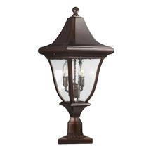 Oakmont  Medium Pedestal Lantern - Patina Bronze