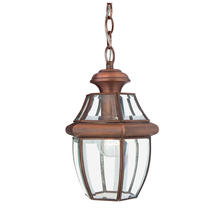 Newbury Medium Hanging Lantern - Aged Copper