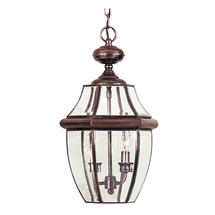Newbury Large Hanging  Lantern - Aged Copper