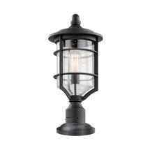 Royal Marine Medium Pedestal Lamp - Distressed Black