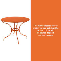 Opera 96cm Table - Carrot