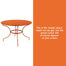 Opera 117cm Table - Carrot