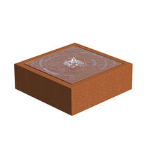 Square Water Table Corten Steel - Medium