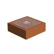 Square Water Table Corten Steel - Small