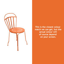 Louvre Stacking Chair - Carrot