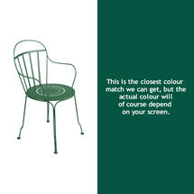 Louvre Stacking Armchair - Cedar Green