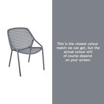 Croisette Armchair - Storm Grey