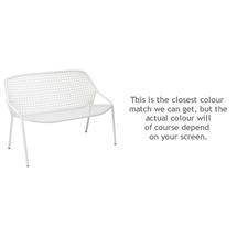 Croisette Bench - Cotton White