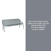 Croisette 3 Seater Bench - Storm Grey