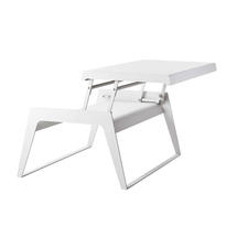 Chill-Out Table Single Leaf Dual Heights - White