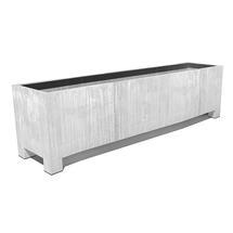 Galvanised Trough Planter with Feet - Large