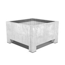 Galvanised Square Planter with feet - Large