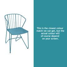 Flower Armchair Plain - Turquoise
