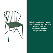 Flower Armchair Plain - Cedar Green