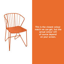 Flower Armchair Plain - Carrot