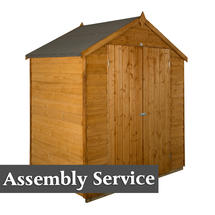 Traditional Roofed Double Door 6x4 Shed with Assembly
