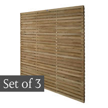 Starter Pack Double Slatted Panels - Set of 3