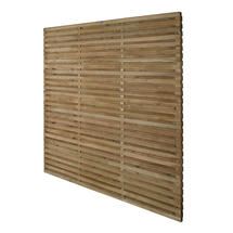 Single Additional Double Slatted Panel