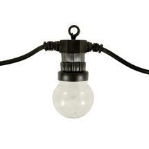 Outdoor LED Warm White Clear Festoon Lights - 5m (10 bulbs)