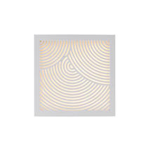 Maze Square Bended Lines Light - White