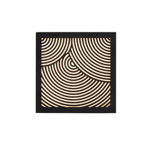 Maze Square Bended Lines Light - Black