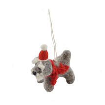 Mini Felt Schnauzer Christmas Decoration