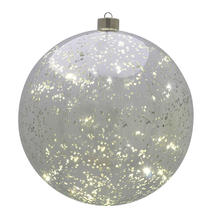 Large Silver Hanging LED Bauble