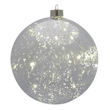 Small Silver Hanging LED Bauble
